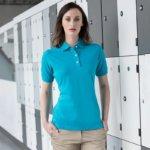 HB121 Women's classic cotton piqué polo shirt