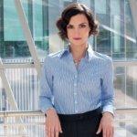 BR104 Women's Striped Perano long sleeve blouse merchandise