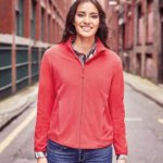 J883F Women's full-zip fitted microfleece